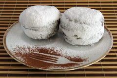 Донуты с напудренным сахаром Стоковое Фото