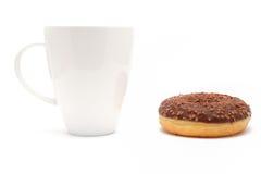 донут кофейной чашки шоколада Стоковые Фото