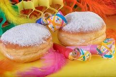 Донут Donuts берлинца или украшение Krapfen праздничное Стоковые Фото