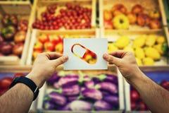 Дополнение витаминов стоковое фото