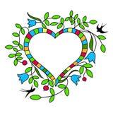 дополнительная editable рамка формы eps флористическая включила вектор День валентинки s Стоковое Изображение