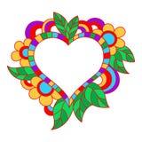дополнительная editable рамка формы eps флористическая включила вектор День валентинки s Стоковое Фото