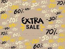 Дополнительное знамя продажи Первоначальный плакат для скидки Яркая абстрактная предпосылка с текстом r супер продажа бесплатная иллюстрация