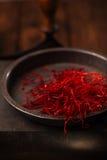 Дополнительный горячий перец красных чилей продевает нитку строки Стоковая Фотография RF