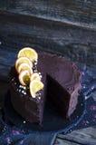 Дополнительный шоколадный торт Стоковые Фото