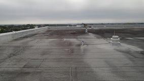 Доработанная плоская крыша; коммерчески толь Стоковая Фотография