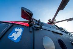 Доработанное для ледовитого вертолета trasport Mi-8 Стоковое Изображение