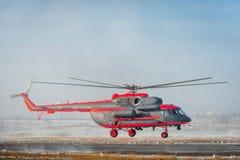 Доработанное для ледовитого вертолета trasport Mi-8 Стоковое Изображение RF