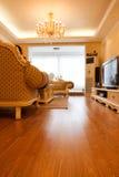 дорогая нутряная живущая роскошная комната Стоковые Изображения