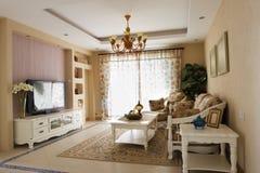 дорогая нутряная живущая роскошная комната Стоковые Фотографии RF