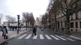 Дорога аббатства в Париже Стоковая Фотография