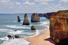 Дорога Австралии, VIC, большая океана Стоковые Фотографии RF