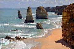 Дорога Австралии, VIC, большая океана Стоковое Фото