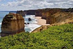 Дорога Австралии, VIC, большая океана Стоковое фото RF