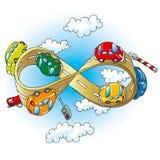 дорога автомобилей инфинитная иллюстрация вектора