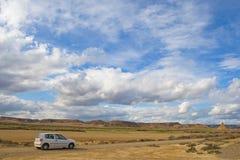 дорога автомобиля сиротливая Стоковая Фотография RF