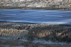 Дорога асфальта с маркировками Стоковая Фотография RF