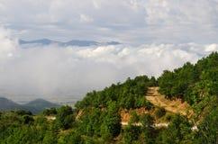 Дорога асфальта в горах стоковые фото