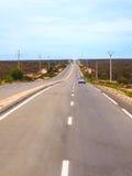 Дорога асфальта в Марокко стоковое фото