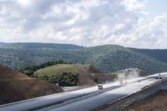Дорога асфальта конструкции Стоковая Фотография