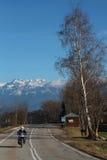 Дорога Альпов француза Стоковая Фотография