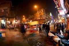 Дорога базара ночи главная Стоковое Изображение RF