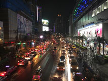 Дорога Бангкок Petchaburi к ноча Стоковая Фотография