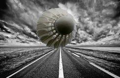 Дорога бадминтона Стоковые Фото