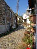 Дорога булыжника в Porta Ria, Греции стоковое фото rf