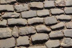 Дорога булыжника Flandres - деталь стоковая фотография
