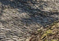 Дорога булыжника Flandres - деталь стоковое изображение