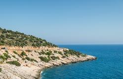Дорога вдоль среднеземноморской береговой линии Стоковое Изображение RF