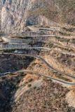 Дорога вдоль Leba Сьерры над взглядом Lubango anisette Стоковое Изображение