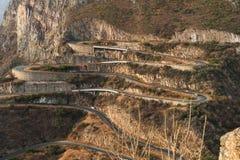 Дорога вдоль Leba Сьерры над взглядом Lubango anisette Стоковая Фотография RF