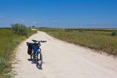 дорога велосипеда сельская Стоковое Изображение