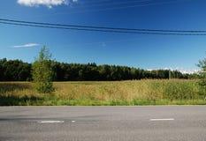 Дорога весны Стоковые Фотографии RF