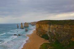 Дорога Виктория Австралия океана 12 апостолов большая Стоковая Фотография