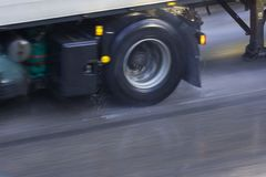 дорога влажная Стоковое Изображение RF