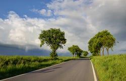 Дорога вне города Стоковое Фото