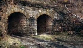 Дорога водя к падению старого тоннеля Стоковая Фотография RF