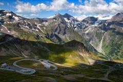 дорога высокогорного grossglockner высокая Стоковое Изображение RF