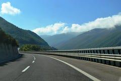Дорога в горах Италии Стоковая Фотография RF