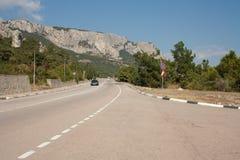 Дорога в горах Стоковое Изображение