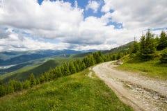Дорога в горах Lotru Стоковая Фотография RF