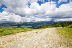 Дорога в горах Lotru Стоковые Изображения RF