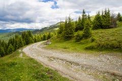Дорога в горах Lotru Стоковое Изображение RF