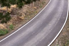 Дорога в горе Стоковые Фотографии RF