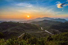 Дорога в горе Стоковая Фотография RF