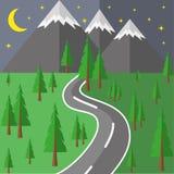 Дорога в горы иллюстрация штока