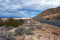 Дорога в гранд-каньоне Стоковая Фотография